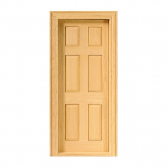 Panel door, natural wood