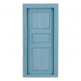 Panel door, blue