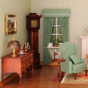 Fenster-Vorhang, hellgrün