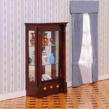 Biedermeier glass cabinet