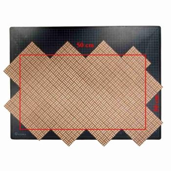Square Basket parquet - laser print on wood