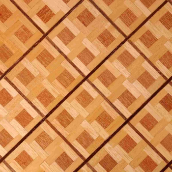 Parquet boards with walnut strips - squarely laid