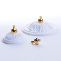 Lamp canopy with thread for MinLux lamps
