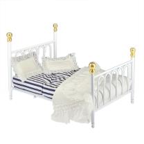 Metall-Doppelbett, weiß