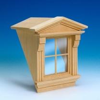 Roof dormer with Victorian window