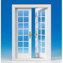 French double door, white - 2nd choice
