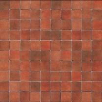 Terracotta tiles, embossed