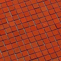 Terracotta floor tiles, mounted on a mesh, 75 x 75 mm