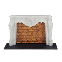 Rococo fireplace mantle