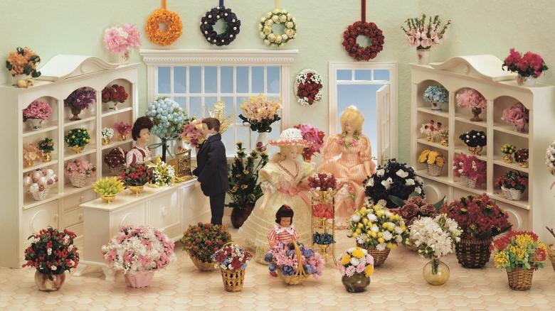 Bausatz-Set Blumengeschäft - mit Blumen und Miniaturen!