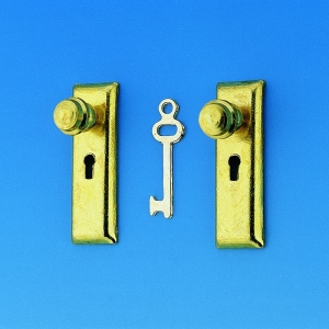 Doorplate with door knop and key