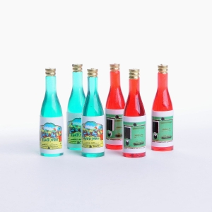 Wine bottles, 6 pcs.