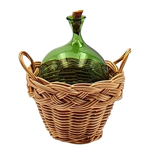 Green demijohns with corks