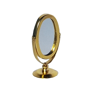 Oval table mirror