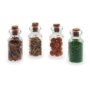 Spice bottles, 4 pcs