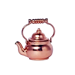 Tea kettle, copper-plated
