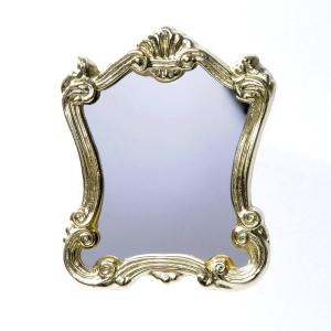 Großer Antiker Spiegel mit Goldrahmen