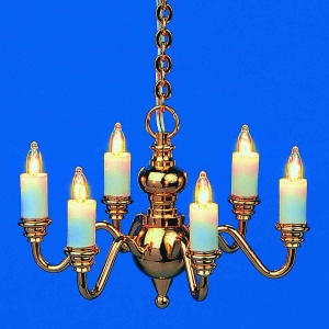 6-lamp chandelier - BRILLIANT Series