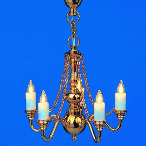 Luxurious 5-lamp chandeliers with 5 chains - BRILLIANT series