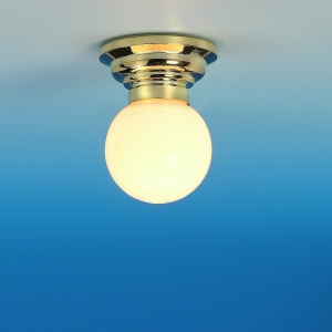 Ceiling lamp with glass ball, MiniLux