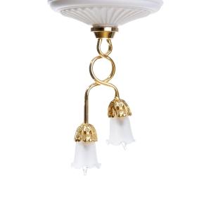2-armige Deckenlampe mit Tulpenschirmen, MiniLux