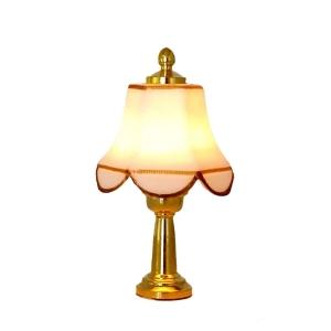Tischlampe mit weißem Schirm, MiniLux