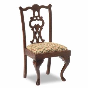 Chippendale upholstered chairs, 2 pieces