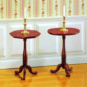 Hepplewhite candle table, 2 pieces