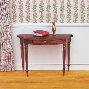 Semicircular wall table