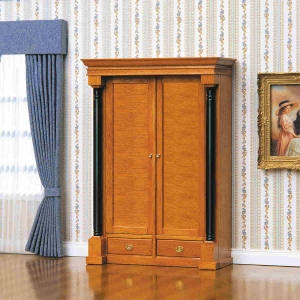 Biedermeier clothes and linen cupboard