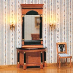 Biedermeier mirror and wall table