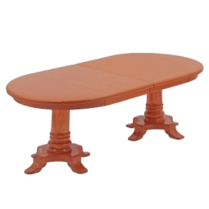 Biedermeier dining room table with extra leaf