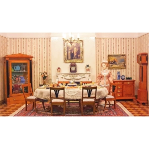 Complete set – Biedermeier dining room, incl. accessories