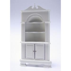 Corner cabinet, antique white, 2nd-choice
