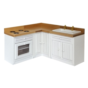 Kitchen, white, 3 parts
