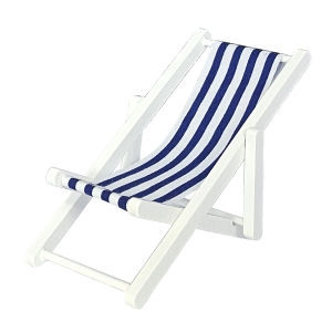 Strand deck chair, white