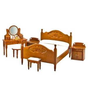 Schlafzimmer, walnuss (6-teilig) mit Miniaturen