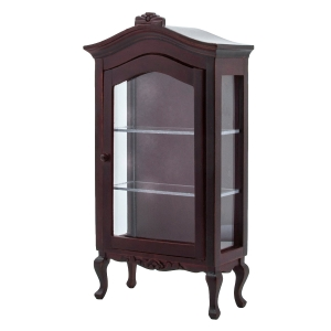 Glass display cabinet, mahogany