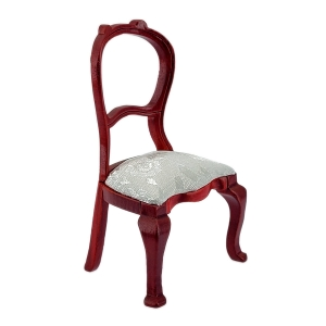 Upholstered chair / café chair, mahogany