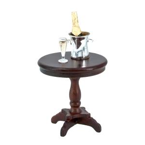 Kleiner runder Tisch, mahagoni