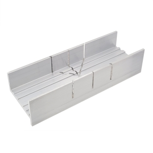 Precision mitre box in aluminium