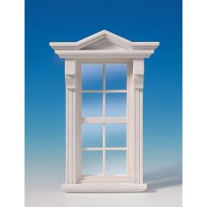 Viktorianisches Fenster, weiß