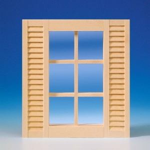 Window with lattices