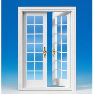 French double door, white