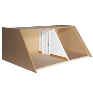 Partition wall with door cut-out - MODULE BOX attic floor