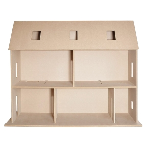 MDF Kit - Wall house with removable roof
