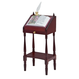 Lectern with fold-down writing panel