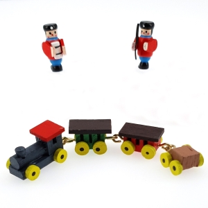 Wooden toy set with train