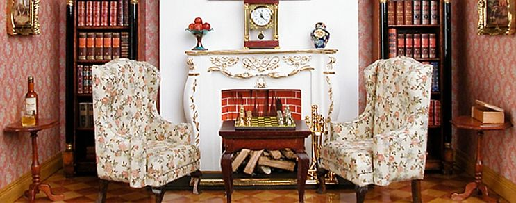 Small fireplace room