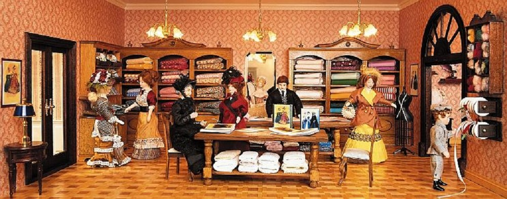 Cloth and fabric shop